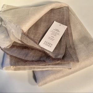 NWT Eileen Fisher Linen Cashmere Scarf Wrap